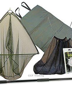 42-CARP-FISHING-LANDING-NET-2M-HANDLE-UNHOOKING-LANDING-MAT-SLING-SCALES-GRN-MB-0
