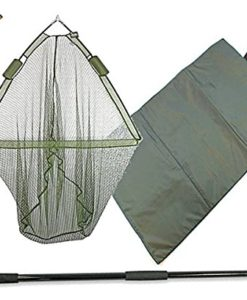 42-CARP-FISHING-LANDING-NET-DUAL-NET-FLOAT-SYSTEM-2M-HANDLE-UNHOOKING-MAT-0