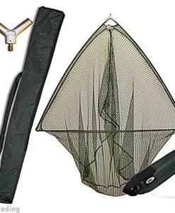 42-CARP-PIKE-FISHING-LANDING-NET-WITH-FLOAT-METAL-BLOCK-STINK-BAG-NGT-0