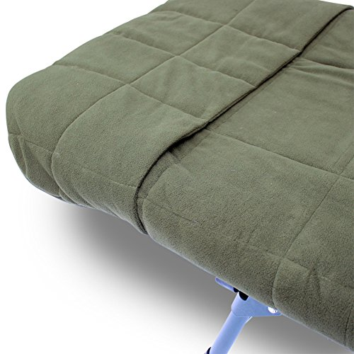 Admirable Abode Hollow Fill Quilted Fleece Bedchair Mattress Topper Carp Fishing Bed Cover Caraccident5 Cool Chair Designs And Ideas Caraccident5Info