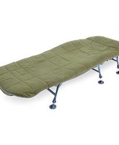 ABODE-Hollow-Fill-Quilted-Fleece-Bedchair-Mattress-Topper-Carp-Fishing-Bed-Cover-0