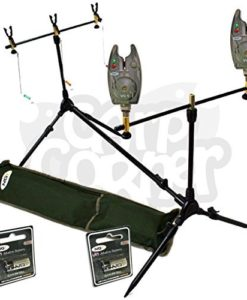 BRAND-NEW-Carp-Fishing-Multi-Rod-Pod-With-Swingers-2-Bite-Alarms-Batteries-0