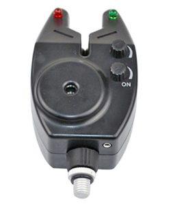 Black-Slimline-Carp-Fishing-Bite-Alarms-Jack-Plug-RED-LEDs-Carp-Fishing-Tackle-0