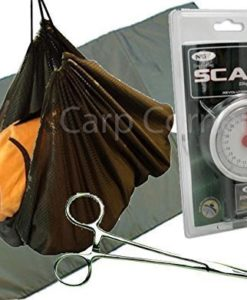 Carp-Coarse-Fishing-Care-Set-Unhooking-Mat-Weighing-Sling-Forceps-And-Scales-0