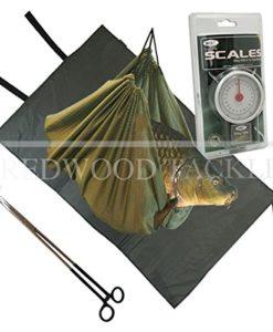 Carp-Coarse-Fishing-Tackle-Unhooking-Set-Mat-Weighing-Sling-Forceps-Scales-0