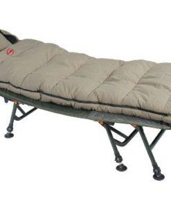 Carp-Fishing-Camping-Snooze-4-Season-Fleece-Lined-Sleeping-Bag-Twin-Zip-Dark-Green-With-Carry-Bag-New-0
