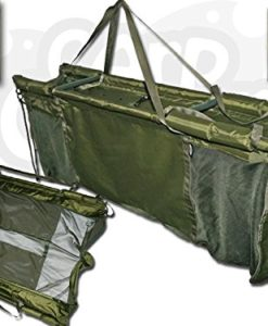 Carp-Fishing-Deluxe-Floating-Floatation-Retainer-Weigh-Sling-With-Carry-Case-0