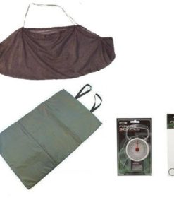 CarpCoarse-Fishing-Tackle-Unhooking-Mat-Weighing-Sling-Forceps-And-50lb-Scales-0