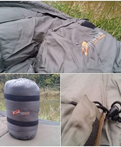 Cyprinus-Carp-Fishing-Frostline-4-season-Breathable-Sleeping-Bag-for-bedchair-with-carry-bag-Heavy-duty-0