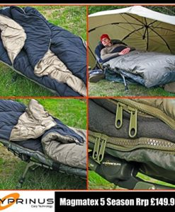 Cyprinus-Magmatex-3-5-Season-waterproof-Carp-Fishing-Sleeping-Bag-for-Bedchair-with-fleece-lining-and-straps-for-attaching-to-bed-0