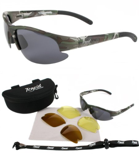 627cf649523e Buy Mens CAMOUFLAGE POLARISED SPORT SUNGLASSES with Interchangeable  Polarized   Low Light Lenses. Ideal Fishing