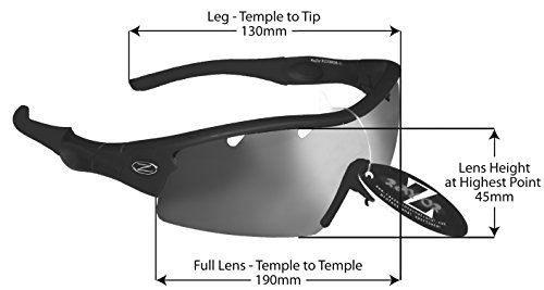 ce17260b52 Buy Rayzor Professional Lightweight UV400 Green Sports Wrap Cricket  Sunglasses