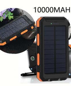Solar-Charger-VivoStar-10000mAh-Solar-Power-Bank-External-Backup-Battery-Pack-Dual-USB-Solar-Panel-Charger-with-2LED-Light-Carabiner-Compass-Portable-for-Emergency-Outdoor-Camping-Travel-Orange-0